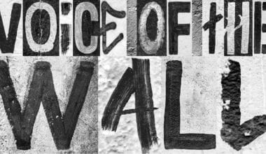 voiceofthewall 380x220 - Písmo, které hlásá svobodu a mír