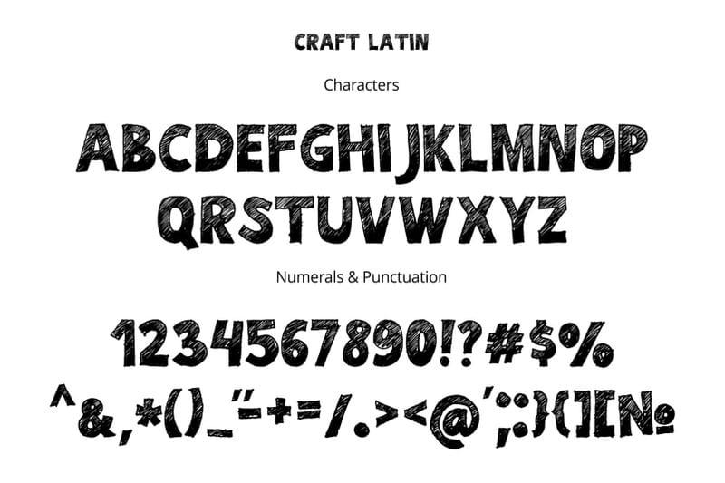 body 12 - Stiahnite si hand drawn písmo CRAFT za 10 dolárov