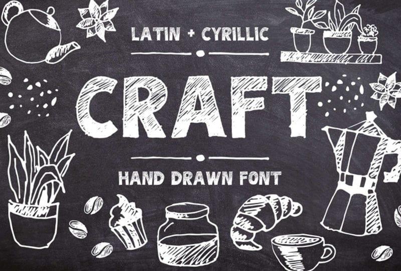 cover dtp 28 800x540 - Stiahnite si hand drawn písmo CRAFT za 10 dolárov