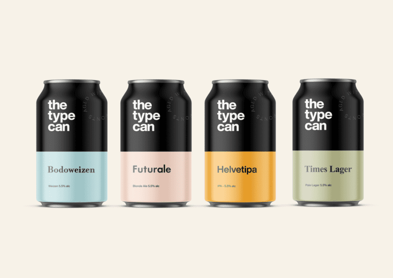 Thetypecan 1 800x566 - Obal piva pro milovníky typografie
