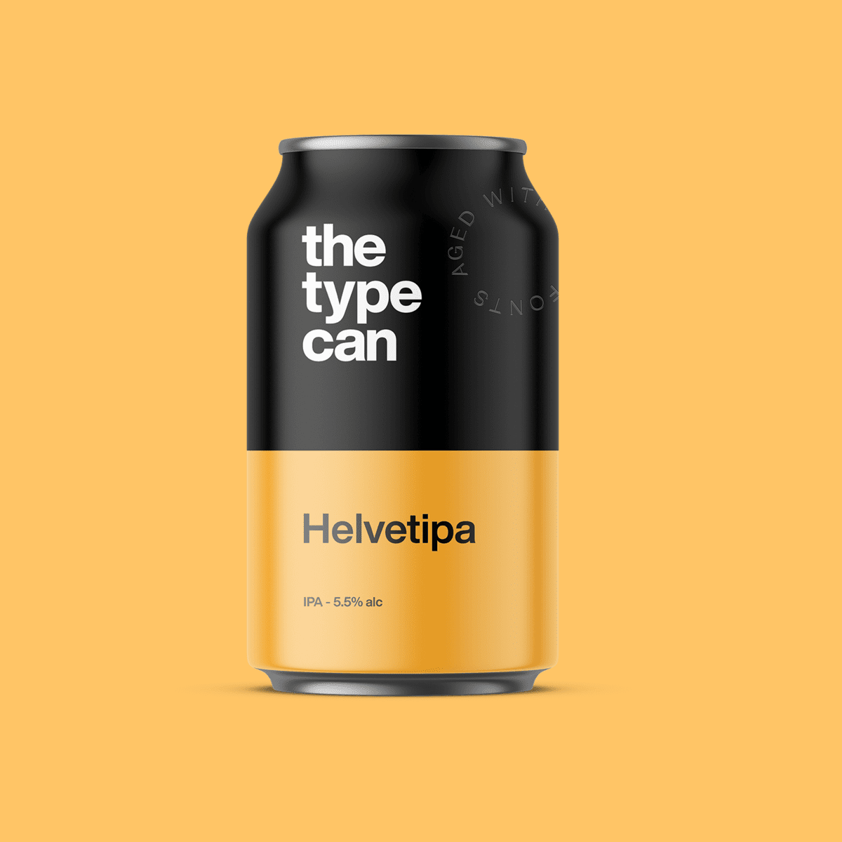 Thetypecan 4 - Obal piva pro milovníky typografie