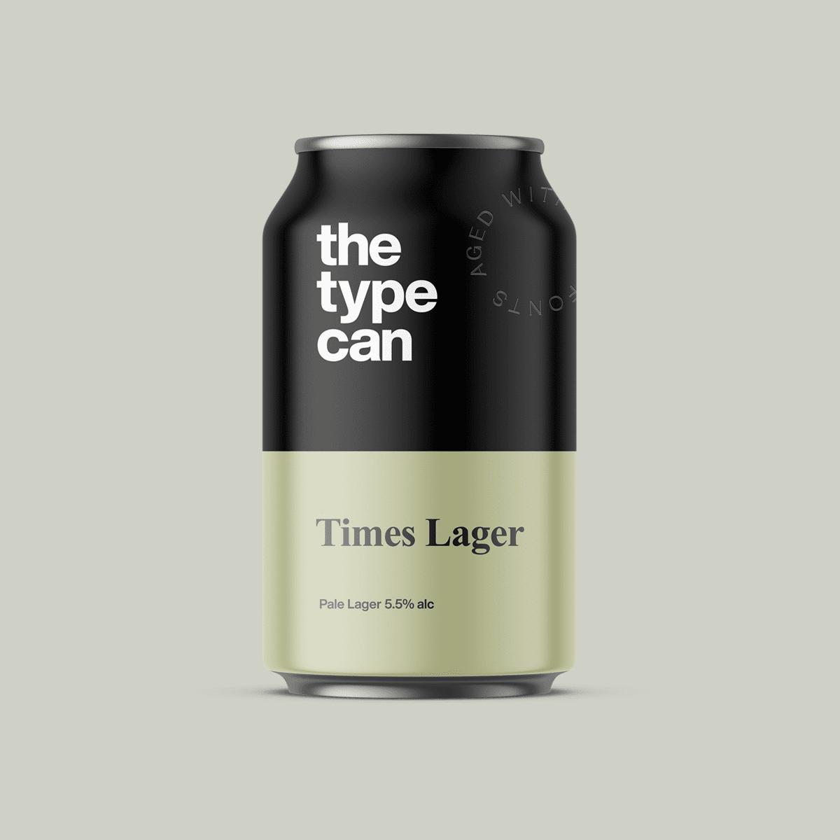 Thetypecan 5 - Obal piva pro milovníky typografie