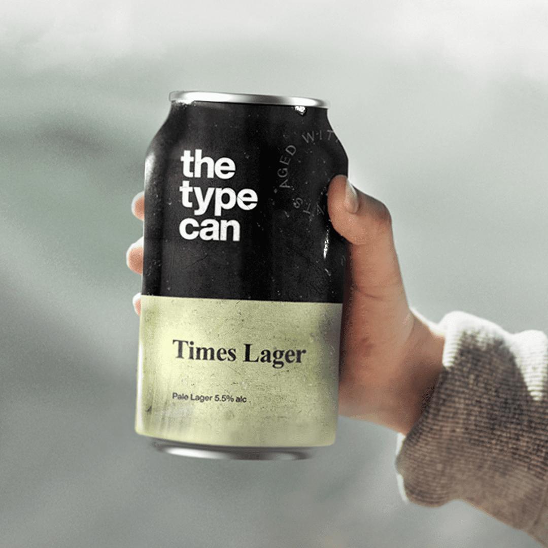 Thetypecan 9 - Obal piva pro milovníky typografie