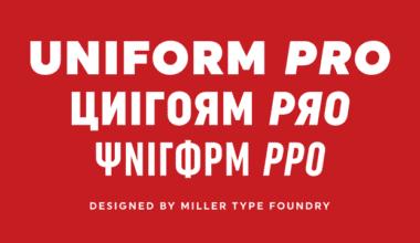 339269 380x220 - Font dňa – Uniform Pro