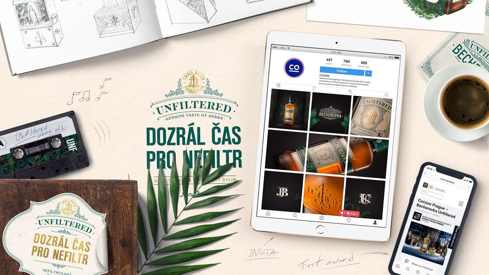 bech unfilt cocoon 07 - Becherovka představila svou premiovou Unfiltered verzi s novým obalem