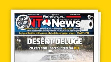 cover 9 380x213 - Austrálske noviny vyšli s prázdnymi stranami. Prečo?