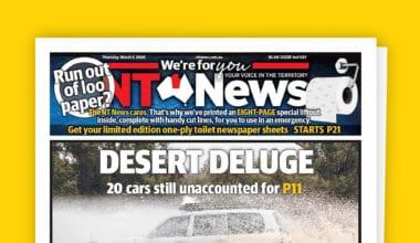 cover 9 380x220 - Austrálske noviny vyšli s prázdnymi stranami. Prečo?